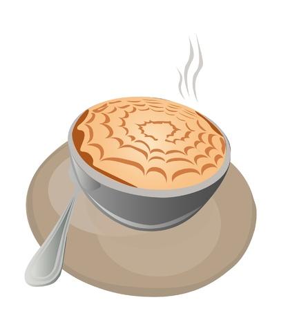 illustration - cappuccino.A hot cappuccino cup. Illustration