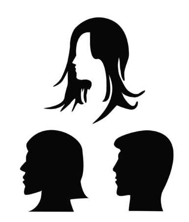 silhouettes of heads  Stock Vector - 13458734