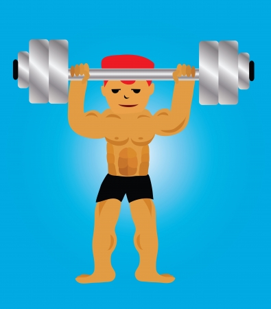 Illustration - Lifting weight The handsome man in the gym  Stock Photo