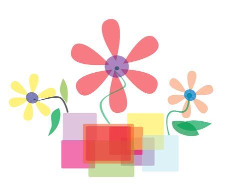 illustration - Beautiful Floral in art vase  Stock Photo