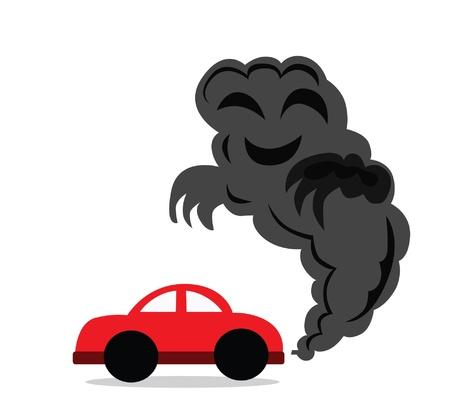 Vector - Il monossido di carbonio si guida una macchina che hai fatto monossido di carbonio Vettoriali