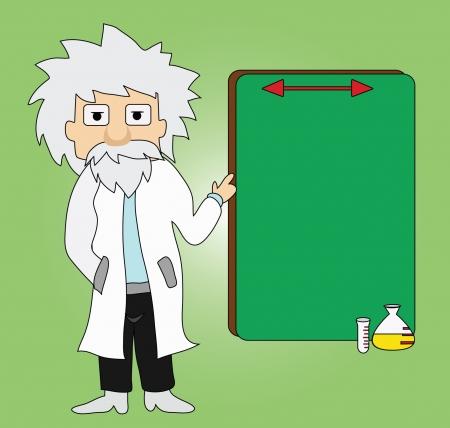 pointer stick: Vector - Professore Egli ha descritto il processo Vettoriali