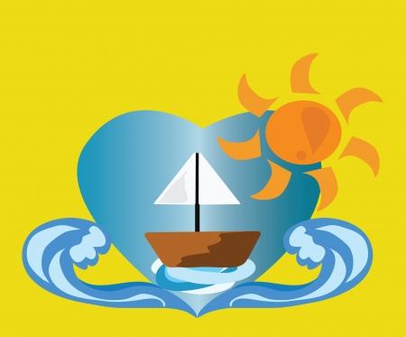 Holiday Concept Sailing  Illustration
