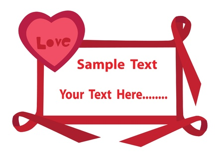 Love postcard with ribbon Stock Vector - 13973900