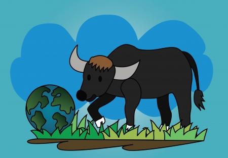 discovered: Vector - Buffalo A buffalo who discovered a new world