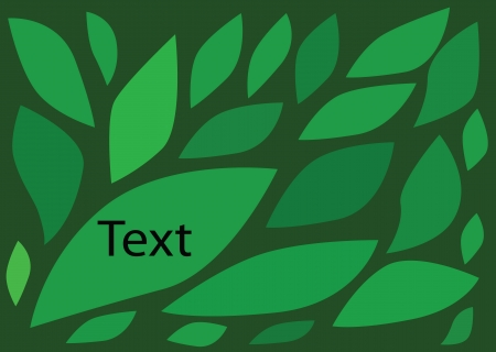 Leaves theme You can write message in empty blank  Vector