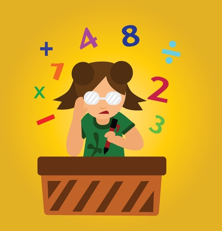Vector - Calculate Concept What is answer Stock Vector - 13910466