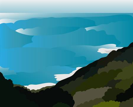 Vector - Island Concept Island is your paradise  Vector