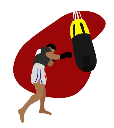 Vector - Thai boxing  Vector