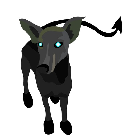 Vector - Dog Concept A son of demons