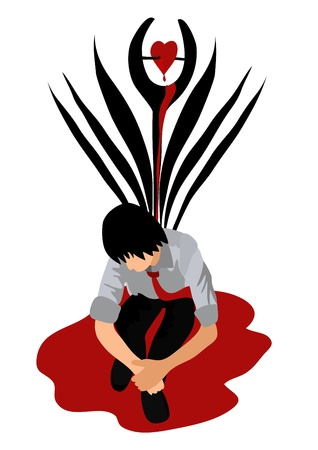 hemorragias: Vector - coraz�n roto