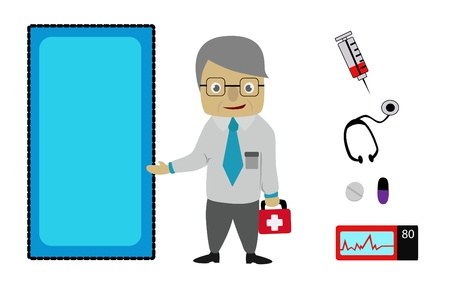 Doctor and medical icon,set of  Doctor  Illustration