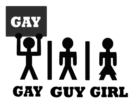 Human symbols Gay,guy and girl