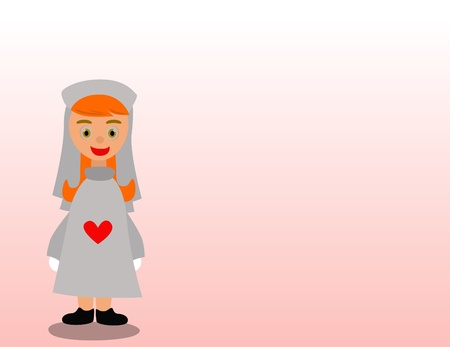 A cute nurse who take care patients  Vector