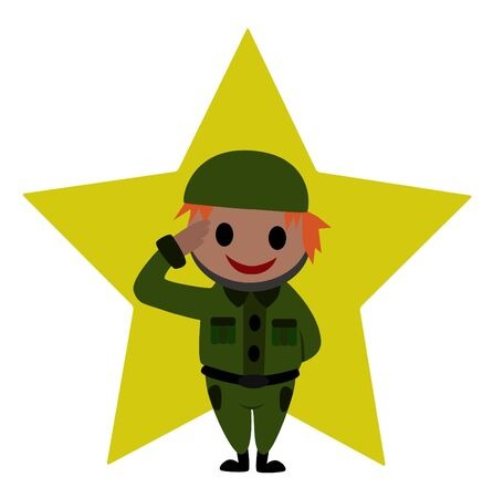 soldier symbol A soldier is saluting  Illustration