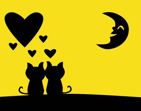illustration - love My love bigger than the moon