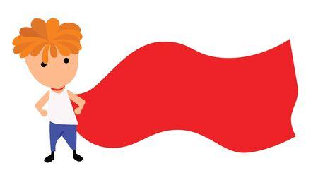 Illustration - Boy hero Concept I want to be hero