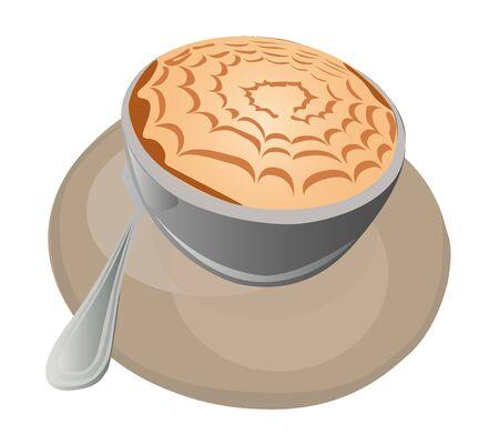 illustration - cappuccino A hot cappuccino cup
