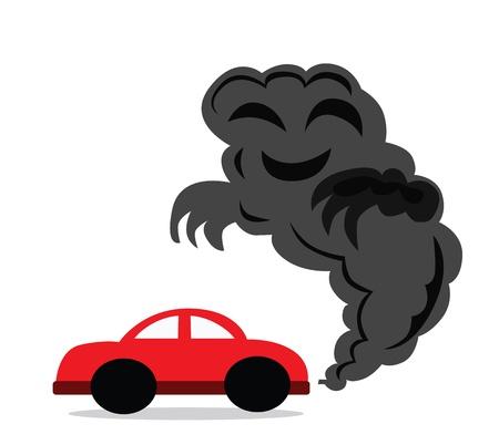 drive nail: Illustration - Carbon monoxide You drive a car that you made carbon monoxide  Stock Photo