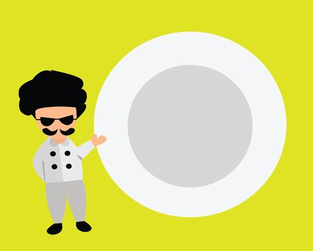 Illustration - Chef and dish
