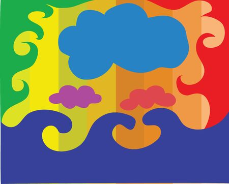 Illustration - Colorful cloud background