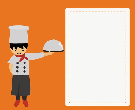 Illustration - Chef with special food
