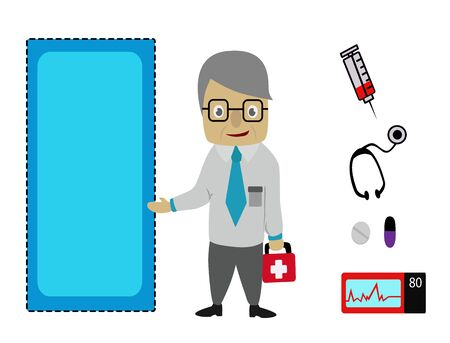 Doctor and medical icon,set of illustration - Doctor  Stock Photo