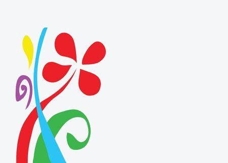 Illustration - Modern flower background  Stock Photo