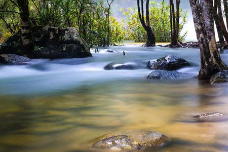 watercourse: watercourse from waterfall Stock Photo