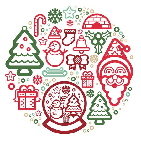 Symbols of Christmas Suitable for the design of the Christmas season  Vector