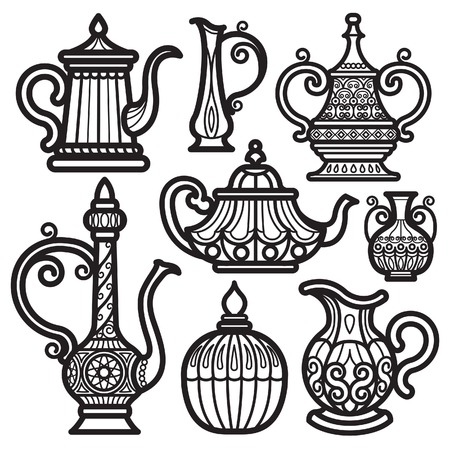 pots: Tea Pot & Kettle Vintage