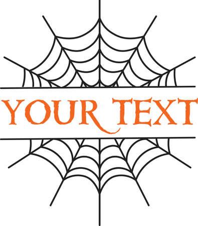 Web spider cobweb monogram icon