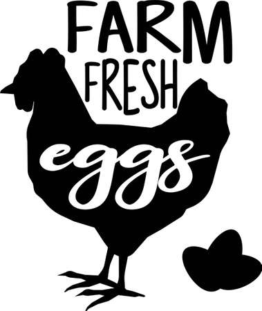 Farm fresh eggs Vettoriali