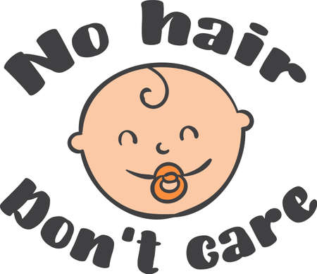 No hair  Don't care 矢量图像