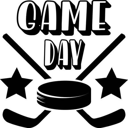 Game day quote. Hockey Puck and Stick