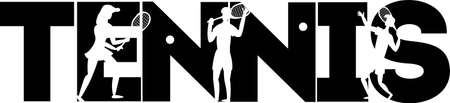 Tennis quotes. Tennis player vector