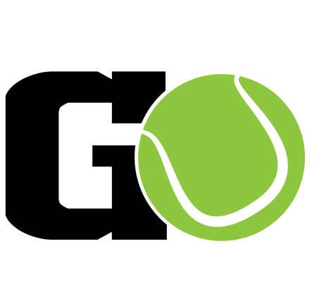 GO quote. Tennis ball vector Illustration