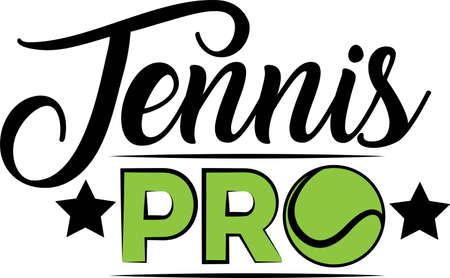 Tennis pro quote. Tennis ball vector Illustration