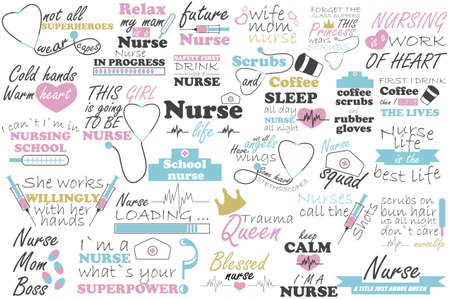 Nurse vector quote. Medical doctor sayings illustration