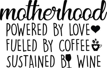 Motherhood on white background. Motherhood Vector illustration.