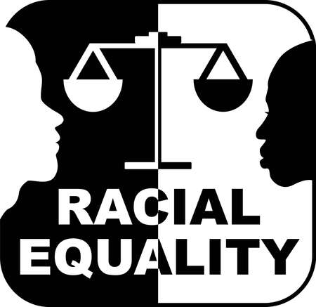 Racial Equality isolated on the white background. Vector illustration