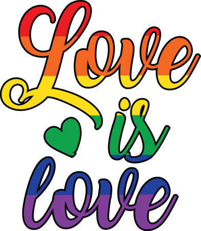 Love is love on the white background. Vector illustration Vectores