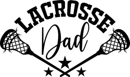 Lacrosse dad on the white background. Vector illustration
