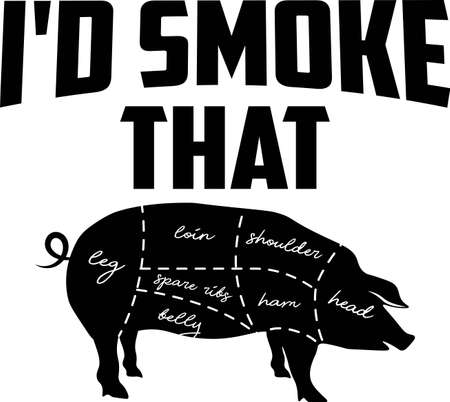 I d smoke that on the white background. Vector illustration