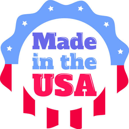 Made in the USA on the white background. Vector illustration