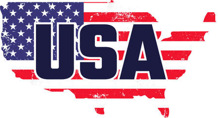 USA on the white background. Vector illustration