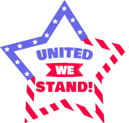 United we stand on the white background. Vector illustration