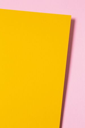 Colored abstract paper background compositions with shadows