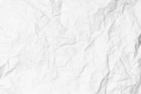 A white crumpled paper texture overlay background Reklamní fotografie