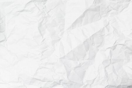white crumpled paper texture overlay background for use as layer Reklamní fotografie